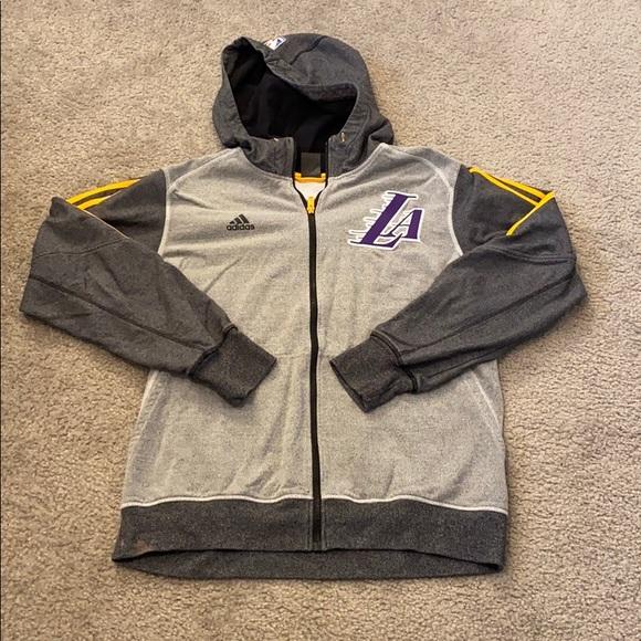 Nba Shirts Adidas La Lakers Zip Up Hoodie Poshmark